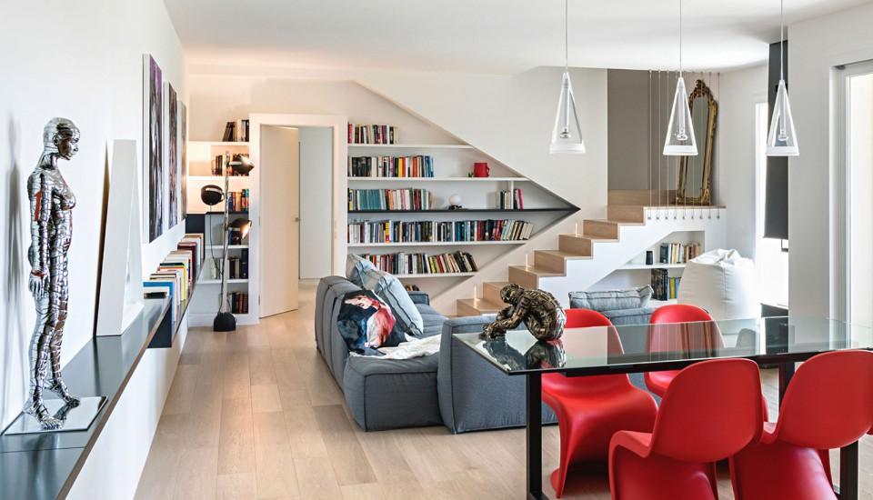 Attico per due interior design di un attico a padova for Riviste interior design